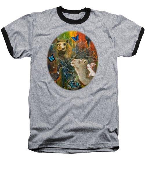 Sacred Journey Baseball T-Shirt by Deborha Kerr
