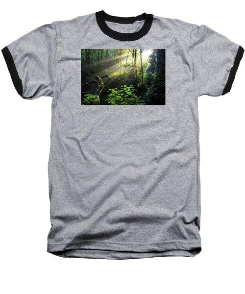 Sacred Light Baseball T-Shirt by Chad Dutson