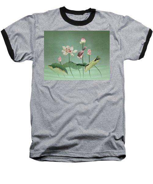 Sacred Lotus Flower Baseball T-Shirt