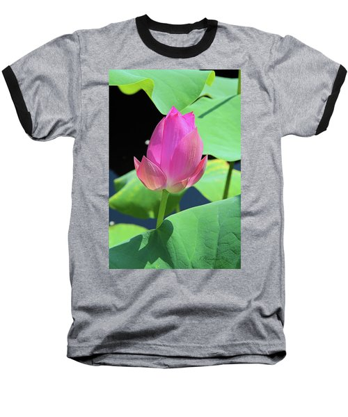 Sacred Pink Baseball T-Shirt by Inspirational Photo Creations Audrey Woods