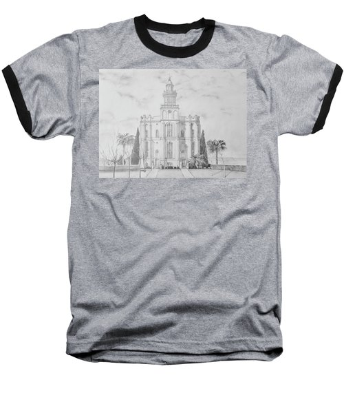 Sacred Steps - St. George Temple Baseball T-Shirt
