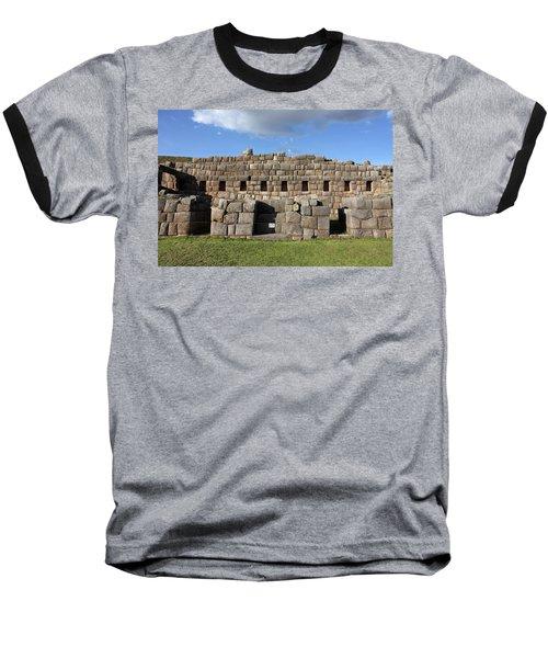Sacsaywaman Cusco, Peru Baseball T-Shirt by Aidan Moran