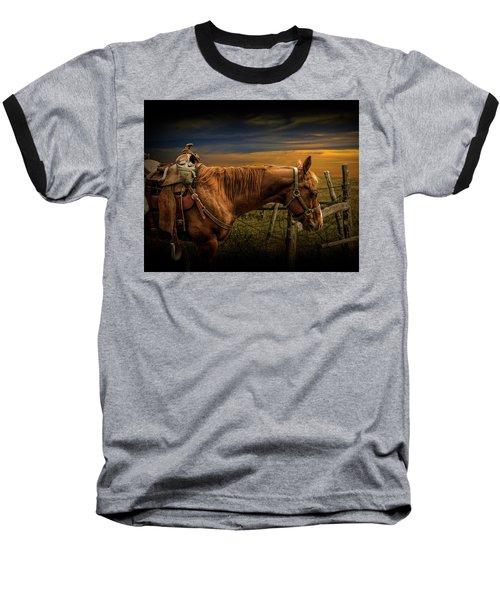 Saddle Horse On The Prairie Baseball T-Shirt