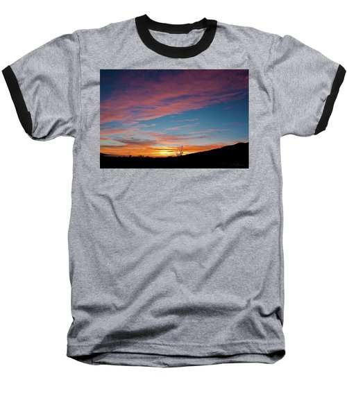 Saddle Road Sunset Baseball T-Shirt