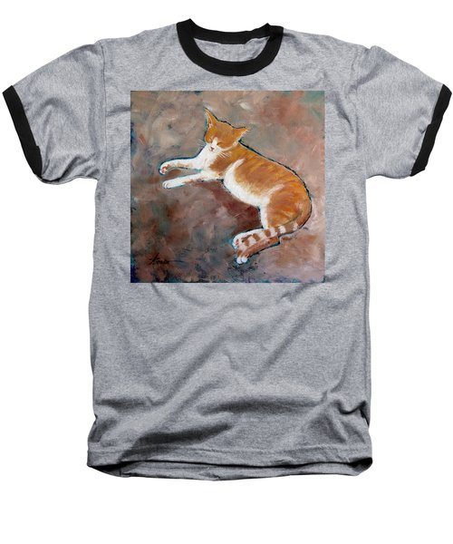Saddle Tramp- Ranch Kitty Baseball T-Shirt