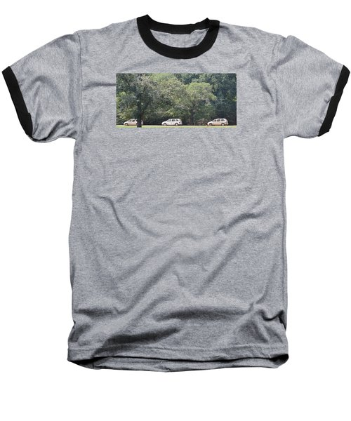 Safari Cars Baseball T-Shirt by James Potts
