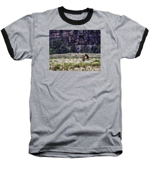 Safe In The Valley Baseball T-Shirt by Elizabeth Eldridge