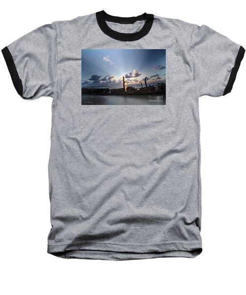 Safe Shore 02 Baseball T-Shirt by Arik Baltinester