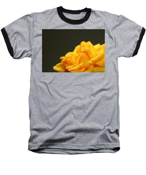 Saffron Mini Rose Baseball T-Shirt by Marna Edwards Flavell