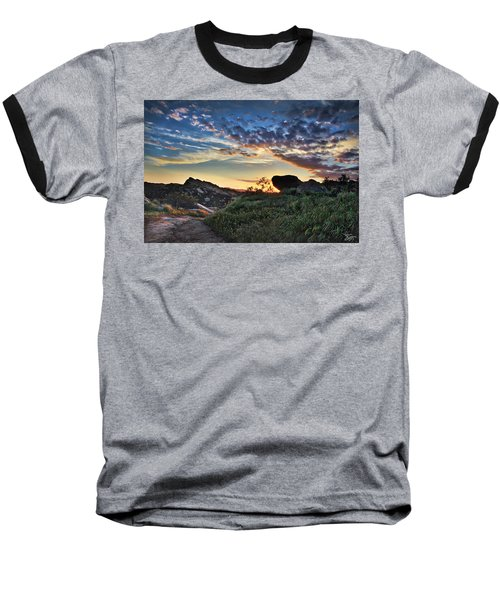 Sage Ranch Sunset Baseball T-Shirt by Endre Balogh
