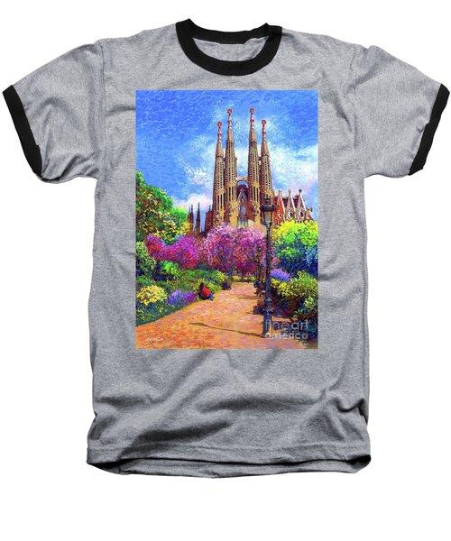 Sagrada Familia And Park Barcelona Baseball T-Shirt
