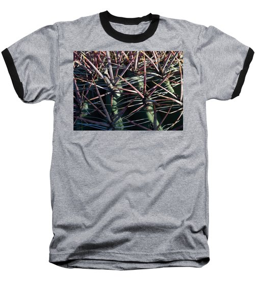 Baseball T-Shirt featuring the photograph Saguaro Grid by Carolina Liechtenstein