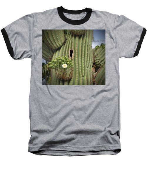 Saguaro In Bloom Baseball T-Shirt