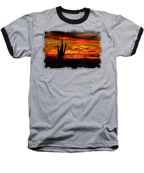 Saguaro Sunset H51 Baseball T-Shirt