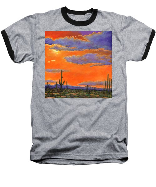 Saguaro Sunset Baseball T-Shirt