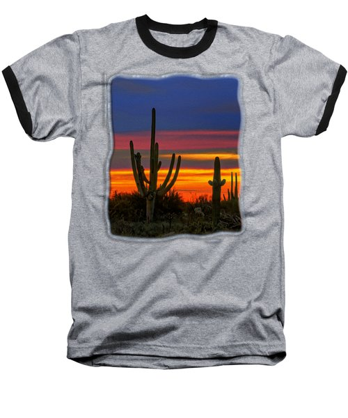 Saguaro Sunset V31 Baseball T-Shirt