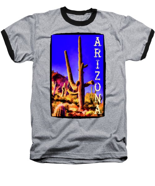 Saguaros Everywhere Baseball T-Shirt