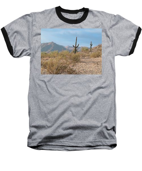 Saguaros On A Hillside Baseball T-Shirt