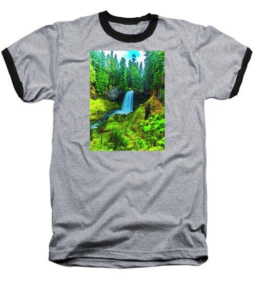 Baseball T-Shirt featuring the photograph Koosa Falls, Oregon by Nancy Marie Ricketts