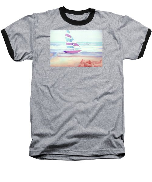 Baseball T-Shirt featuring the painting Sail Away by Denise Fulmer