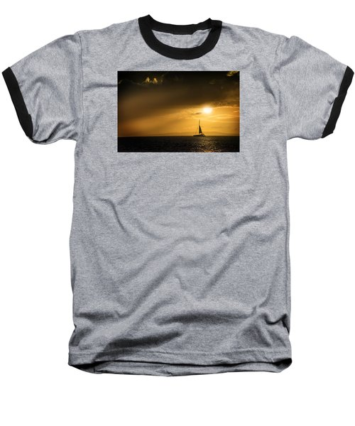 Baseball T-Shirt featuring the photograph Sail Away Maui by Janis Knight