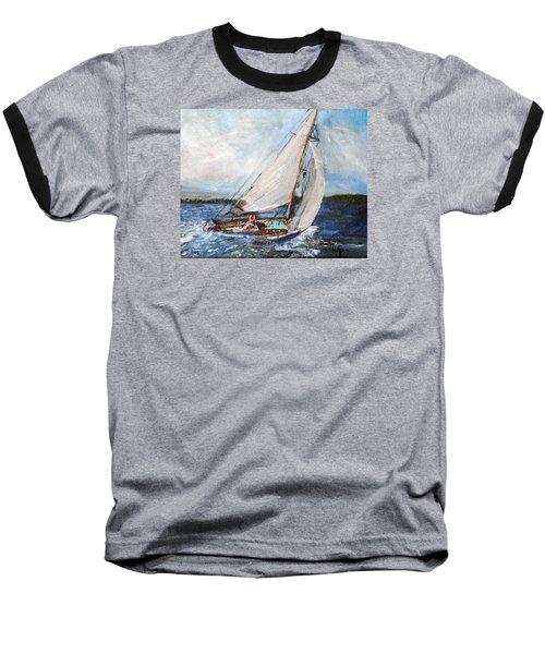 Sail Away Baseball T-Shirt by Michael Helfen