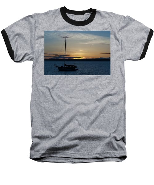 Sail Boat At Sunset Baseball T-Shirt