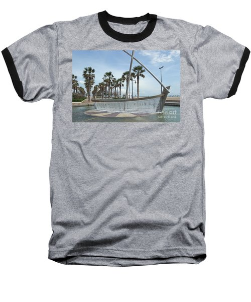 Sail Boat Fountain In Valencia Baseball T-Shirt