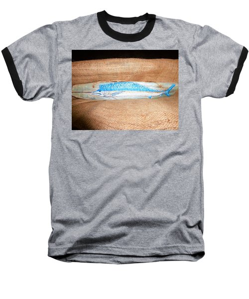 Sail Fish Baseball T-Shirt by Ann Michelle Swadener
