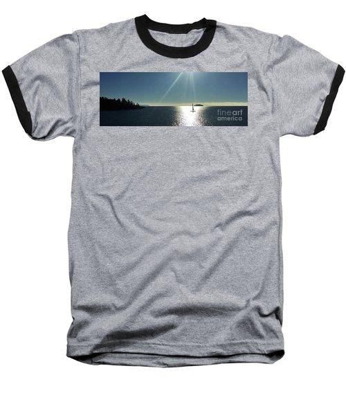 Sail Free Baseball T-Shirt by Victor K