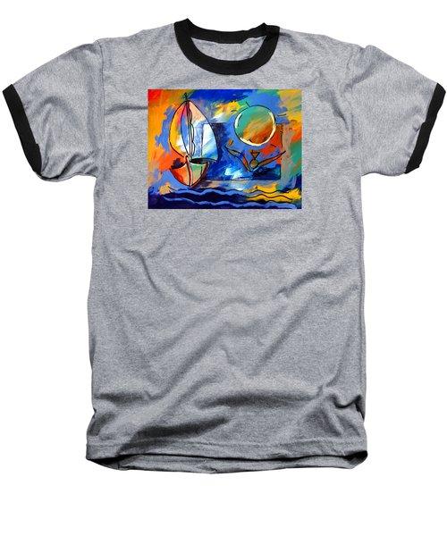 Sailboat 1 Baseball T-Shirt