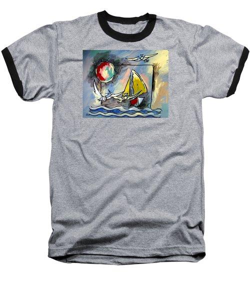 Sailboat 2 Baseball T-Shirt