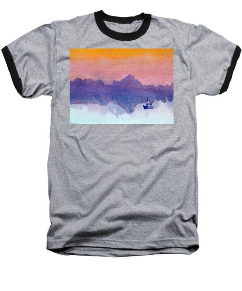 Sailboat At Dawn Baseball T-Shirt