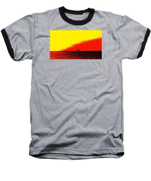 Sailboat Horizon Poster Baseball T-Shirt