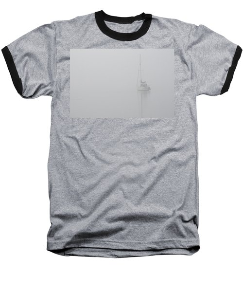 Sailboat In Fog Baseball T-Shirt