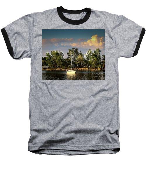 Sailboat In The Bay Baseball T-Shirt