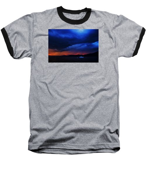 Baseball T-Shirt featuring the photograph Sailboat In Thunderstorm by Sean Sarsfield