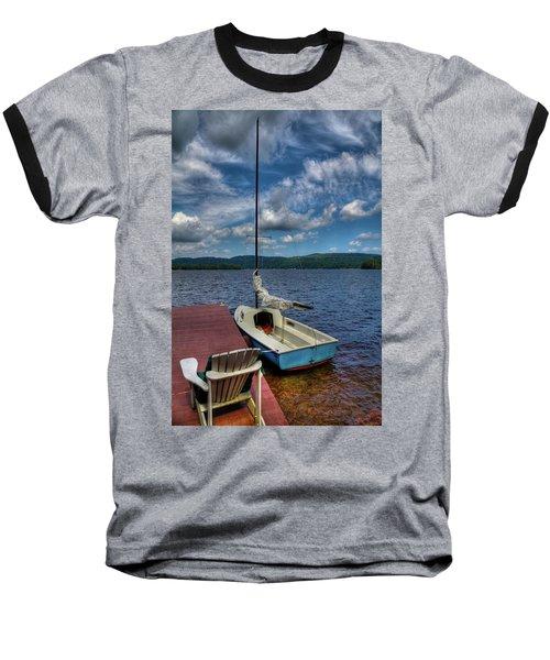 Sailboat On First Lake Baseball T-Shirt