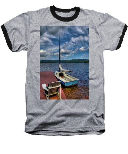 Sailboat On First Lake Baseball T-Shirt