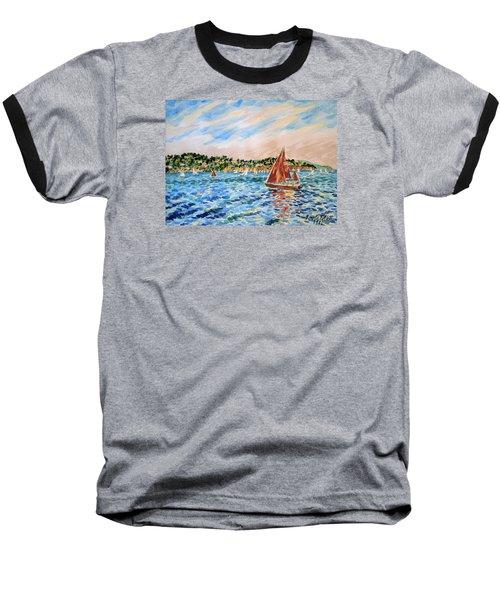 Sailboat On The Bay Baseball T-Shirt