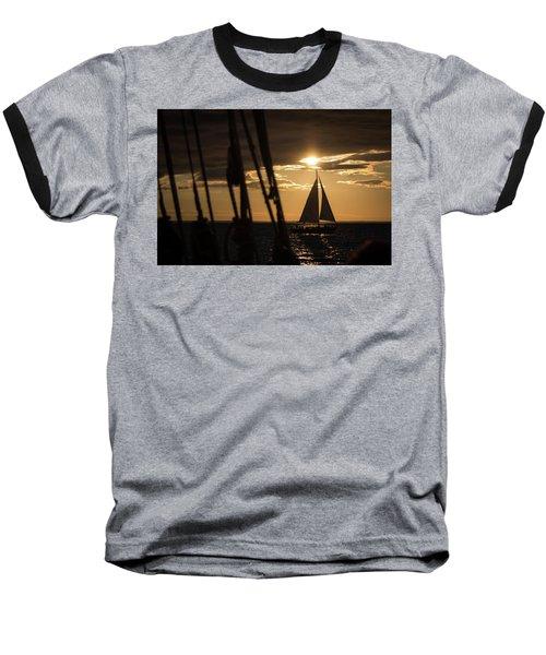 Sailboat On The Horizon Baseball T-Shirt