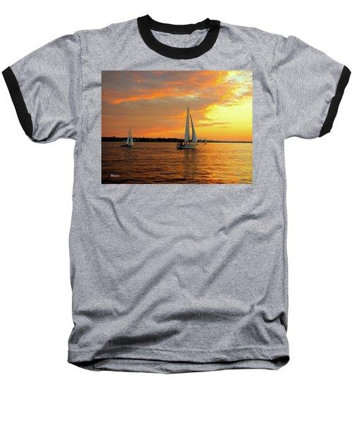 Sailboat Parade Baseball T-Shirt