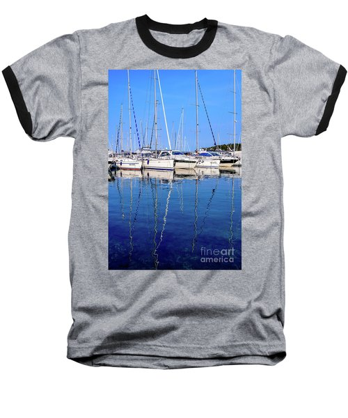 Sailboat Reflections - Rovinj, Croatia  Baseball T-Shirt