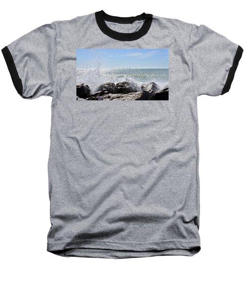 Sailboats And Surf Baseball T-Shirt