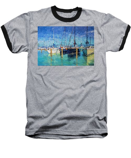 Sailboats At Balatonfured Baseball T-Shirt