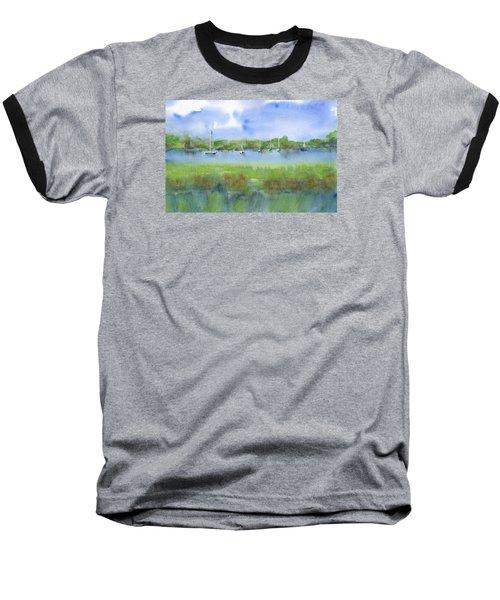 Sailboats At Beaufort Baseball T-Shirt by Frank Bright