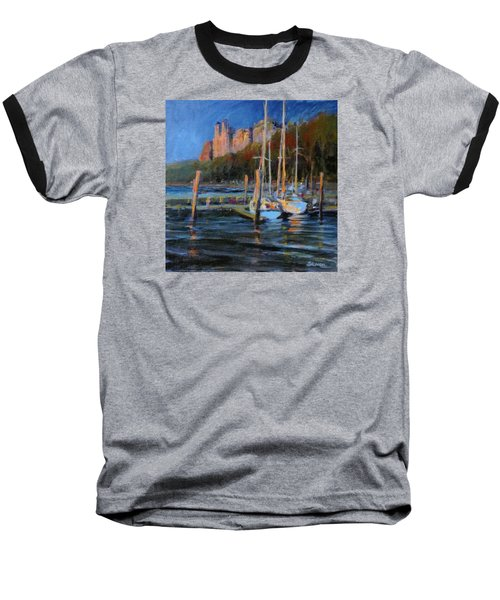 Sailboats At Dusk, Hudson River Baseball T-Shirt