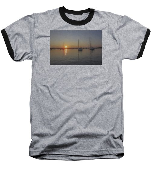 Sailboats At Sunset Baseball T-Shirt