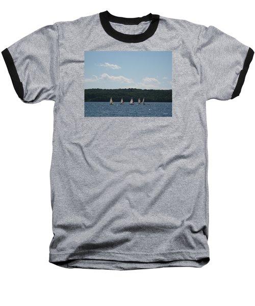 Sailboats In Eagle Harbor Baseball T-Shirt