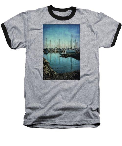 Marina - Digitally Textured Baseball T-Shirt by Marilyn Wilson